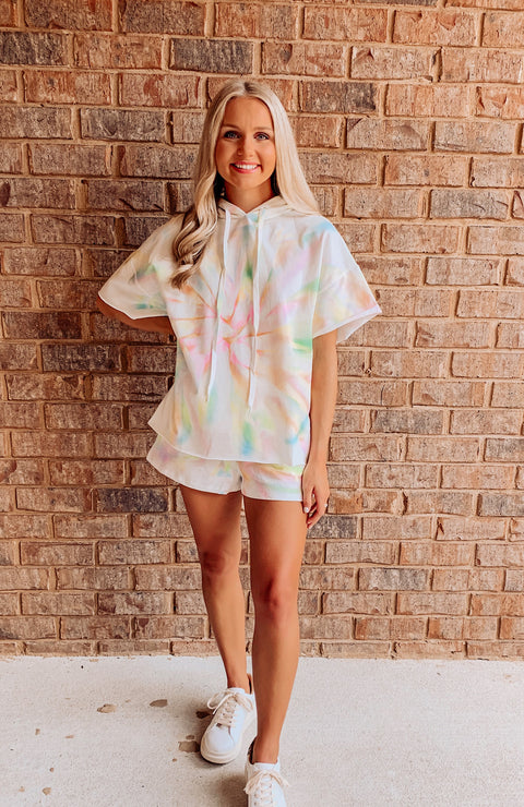 Tie Dye French Terry Shorts Set
