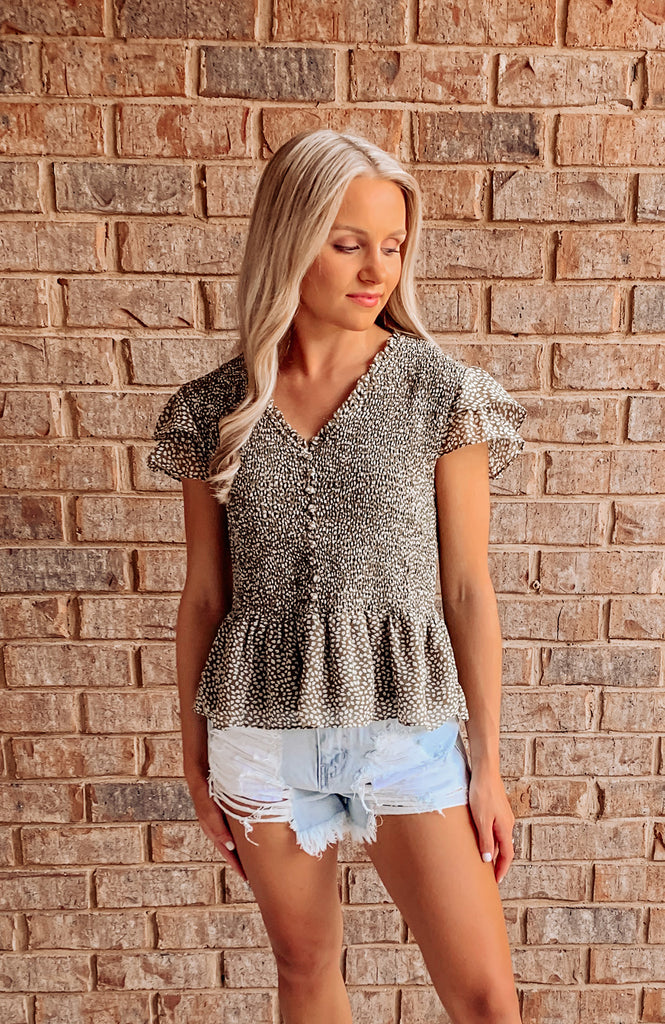 Florence Smocked Printed Top
