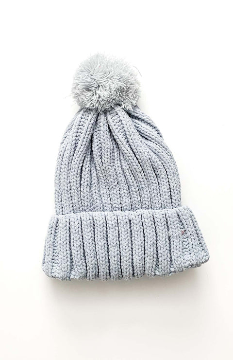 Powder Blue Chenille Beanie
