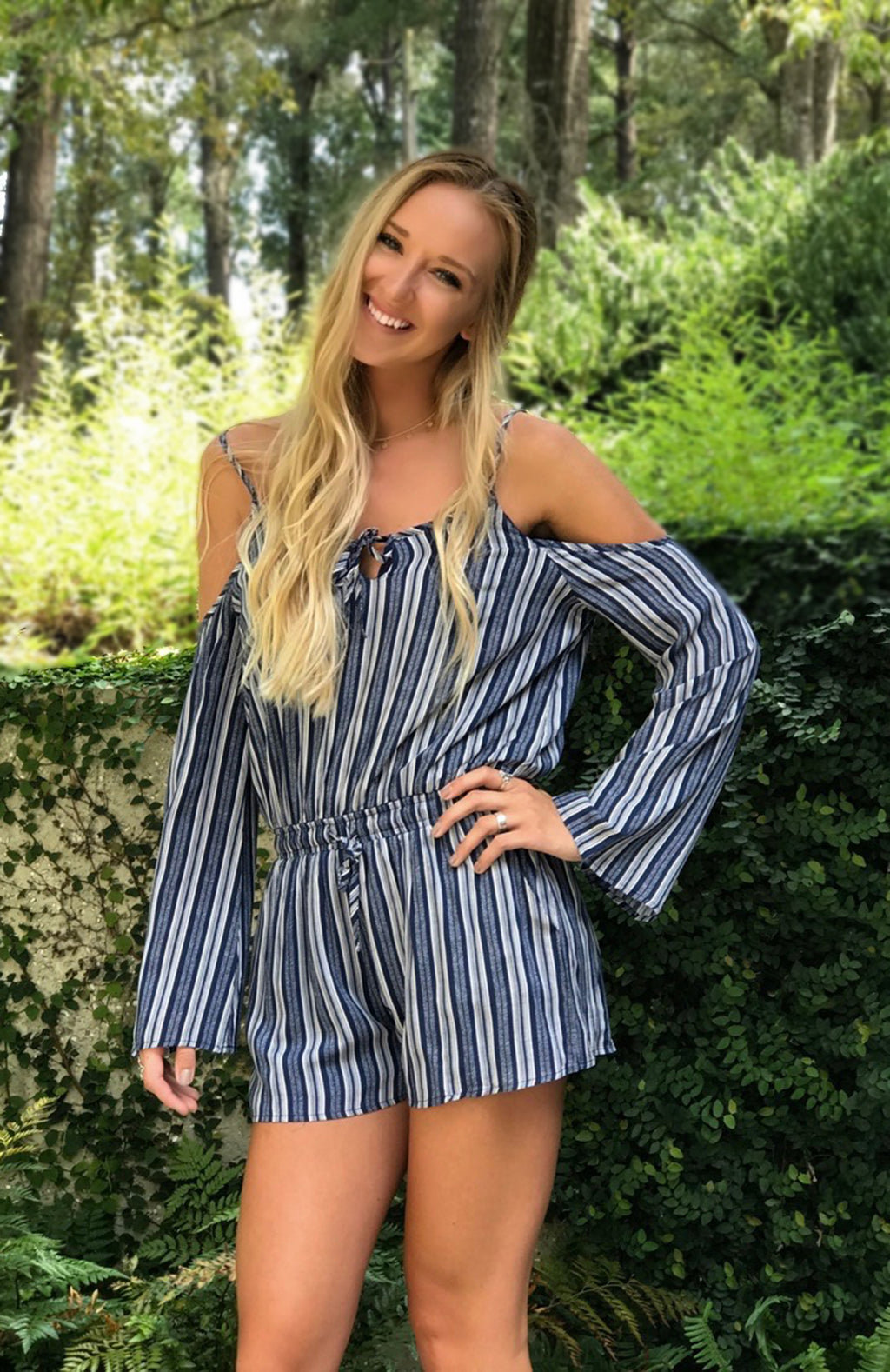 Lynn Striped Romper