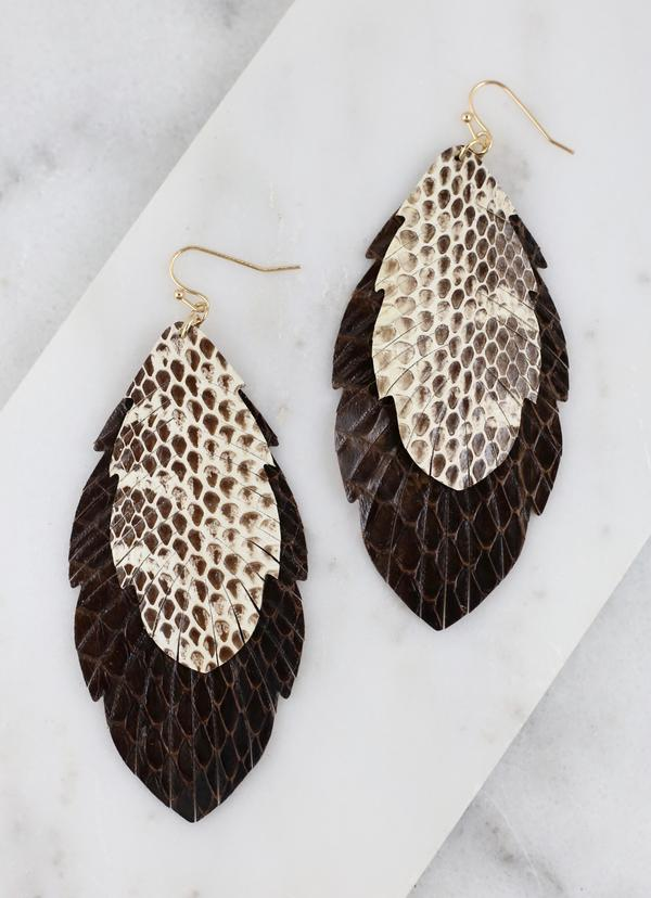 Yukon Double Layered Feather Earrings