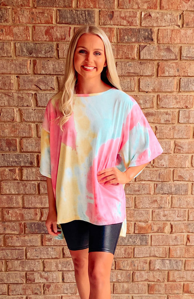 Brynley Oversized Tie Dye Tee