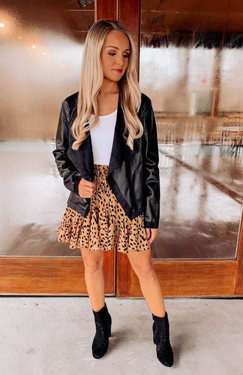 Chic + Fabulous Faux Leather Jacket