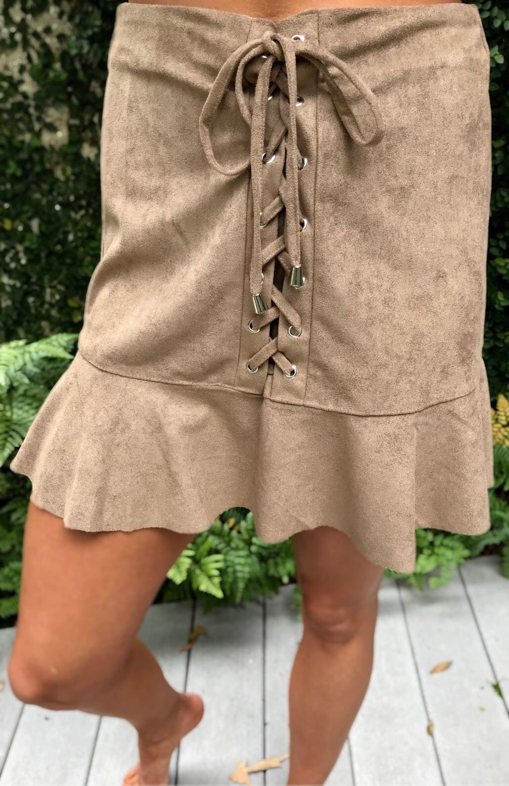 Whitley Faux Suede Skirt