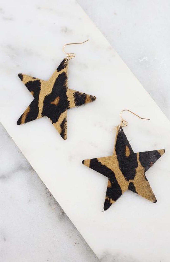 Trinca Leopard Star Earrings