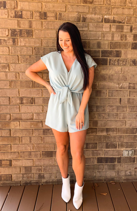 Seaside Days Front Tie Romper