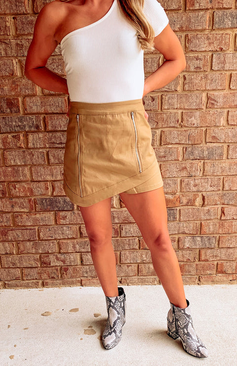 Brookhaven Asymmetrical Zipper Skort