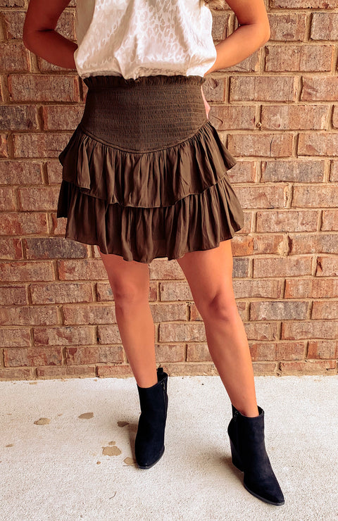 Butter Nut Ruffle Smocked Skort