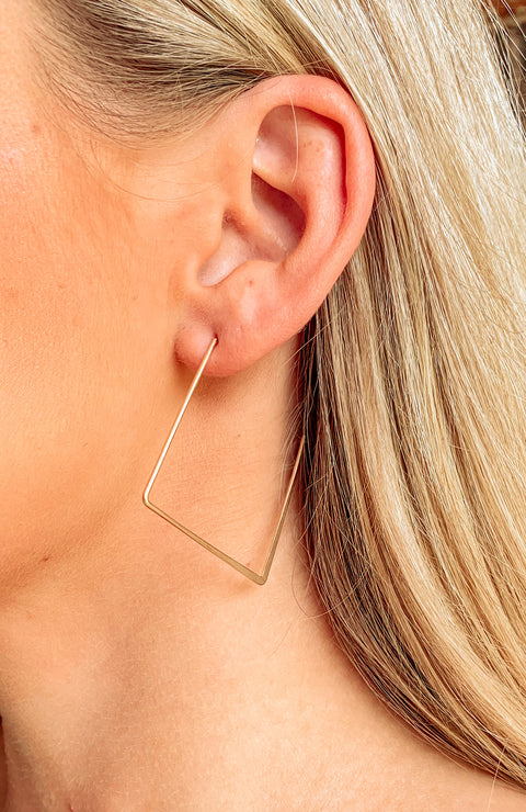 Holly Thin Metal Square Hoops