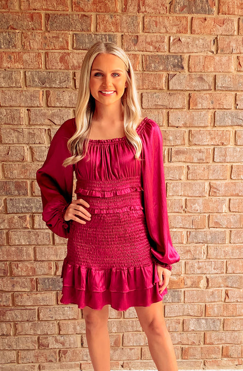 City Nights Smocked Dress