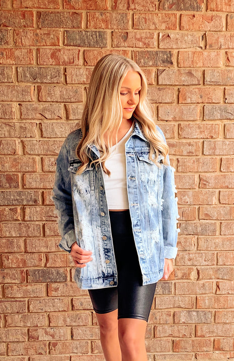 Blue Ridge Distressed Denim Jacket