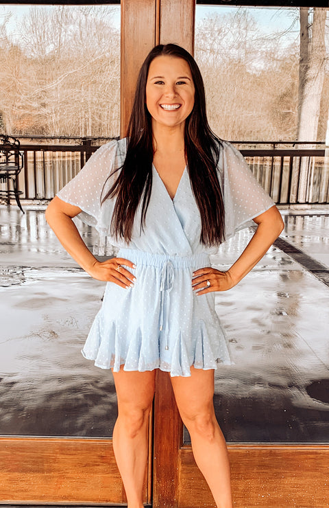 Feeling Flirty Textured Romper
