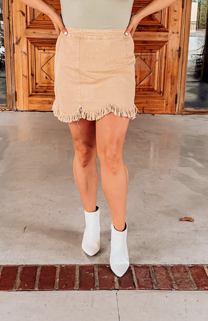 Ally Frayed Skirt