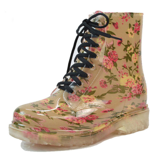 Women's Lace-Up Combat Boots - 7ucky