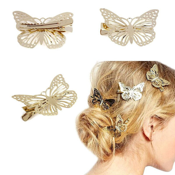 Amazing Golden Butterfly Hair Clip - 7ucky