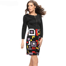 Women's Sheath Patchwork Mini Pencil Dress - 7ucky