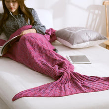 Handmade Crochet Mermaid Tail Blanket - 7ucky