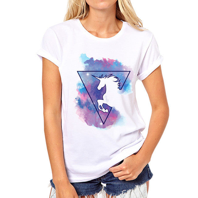 Unicorn Triangle T-Shirt - 7ucky