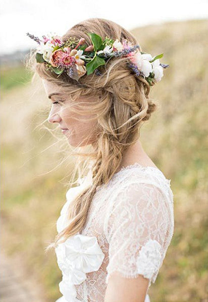 Women's Bohemian Bride Flowers Headband - 7ucky