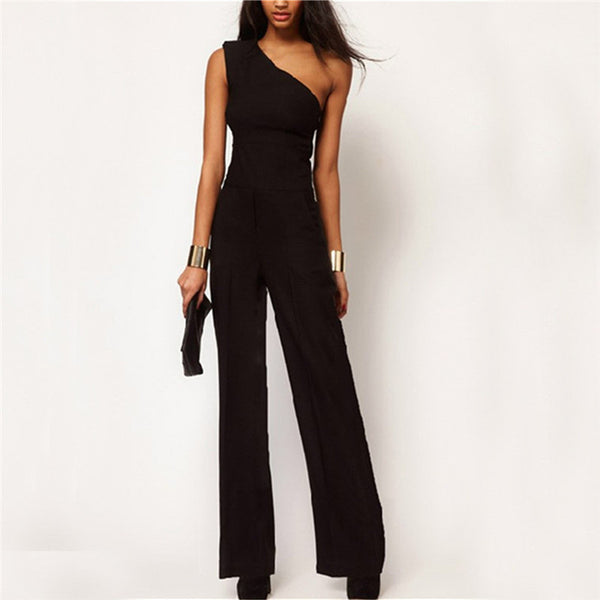 Women's Elegant Sexy One Shoulder Jumpsuit - 7ucky
