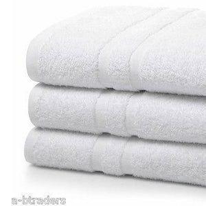 Institutional Bath Towels White