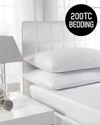 200TC Hotel Quality Flat Sheets & Pillowcase
