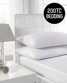 "200TC Hotel Quality 12"" Deep Fitted Sheets"