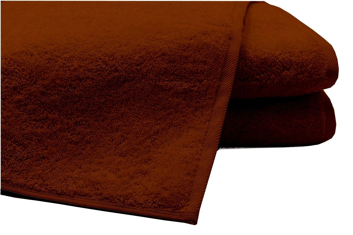 Pack of 2 Extra Large Bath Sheets100% Cotton Towels Jumbo Size COLOUR Chocolate