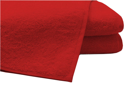 Pack of 2 Extra Large Bath Sheets100% Cotton Towels Jumbo Size COLOUR Red
