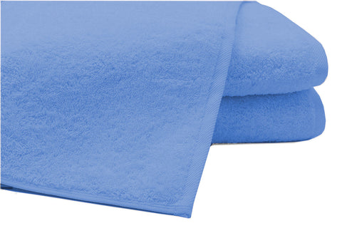 Pack of 2 Extra Large Bath Sheets100% Cotton Towels Jumbo Size Blue COLOUR