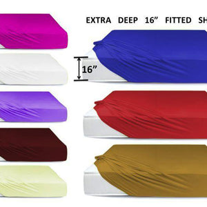 "EXTRA DEEP 16"" Fitted Sheets"