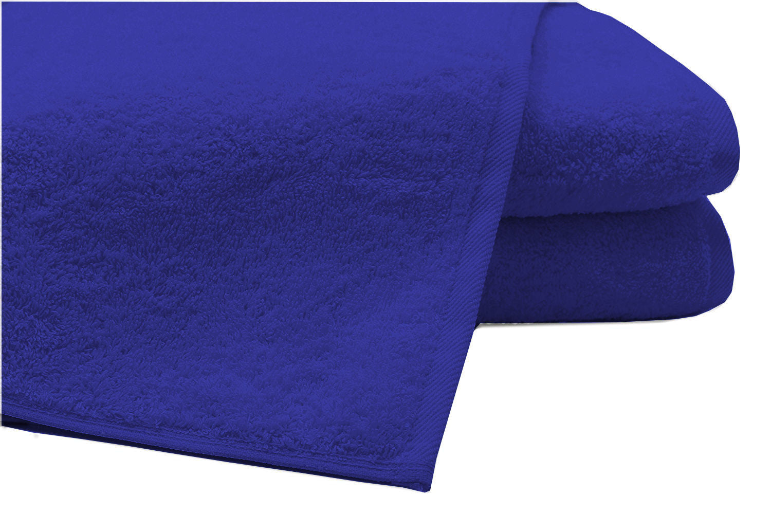 Pack of 2 Extra Large Bath Sheets100% Cotton Towels Jumbo Size Royal Blue COLOUR