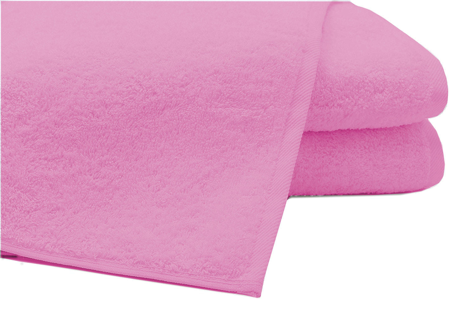 Pack of 2 Extra Large Bath Sheets100% Cotton Towels Jumbo Size COLOUR Pink