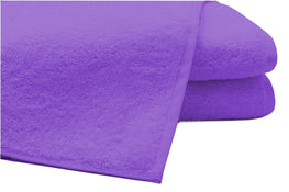 Pack of 2 Extra Large Bath Sheets100% Cotton Towels Jumbo Size COLOUR Purple