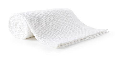 100% Cotton Thermal Cellular Blanket Light Weight Adult Soft Luxury White
