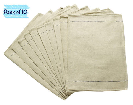 Oven Cloths | Pack of 10 | Heavy Duty | 100% Cotton