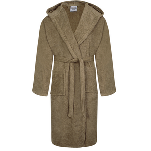 Egyptian Hooded Bath Robes | Latte