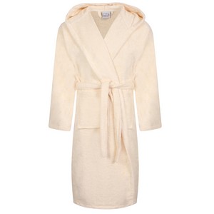 Egyptian Hooded Bath Robes | Cream