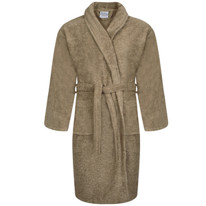 Latte Egyptian Cotton Shawl Collar Bathrobes | A & B Traders
