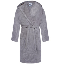 Egyptian Hooded Bath Robes | Silver Grey