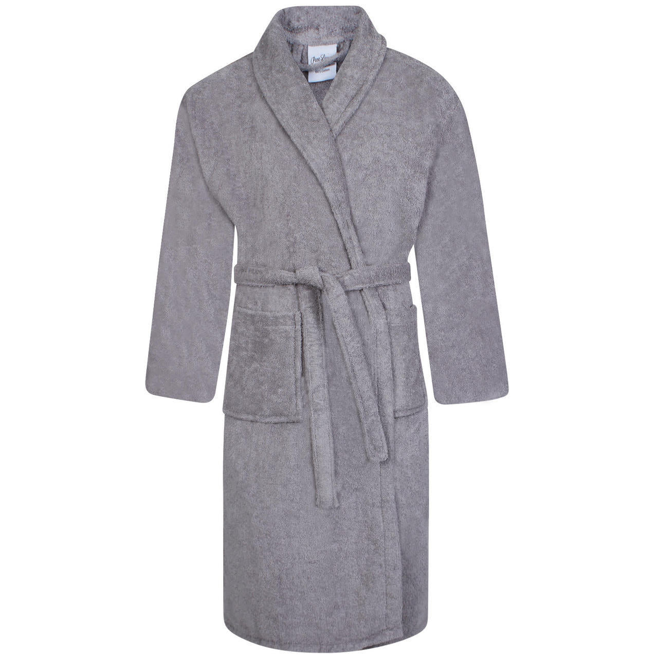 Egyptian Shawl Collar Bath Robes | Silver