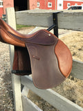 "Collegiate Gamma Close Contact Jump Saddle- 17.5"",  New"