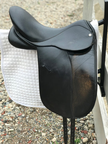 "Klimke Dressage Saddle by Millers- 18"" used"