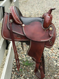 "Western Trail/ Pleasure with Studded Detailing- 15"" seat Lightly used"