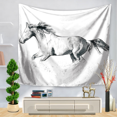 Tapestry Hand Fine Horse Giraffe Printing Hanging Decoration Sit Carpet