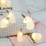 Pony Unicorn LED lights Flash string lights Cute Bedroom Room Warm White