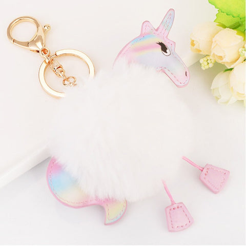 Car Keychain Exquisite Plush Pony Pendant Fashion Bag Cell Phone Ornaments