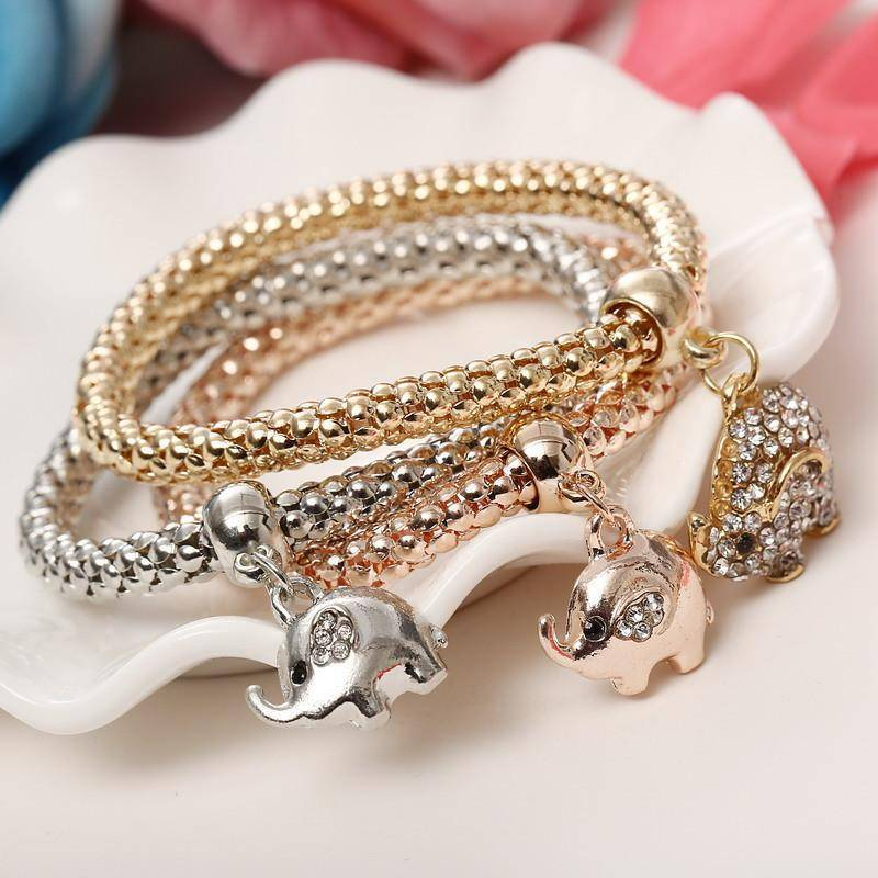 LilliPhant bracelet Multilayer Elephant Bracelets Set - 3 Pieces!