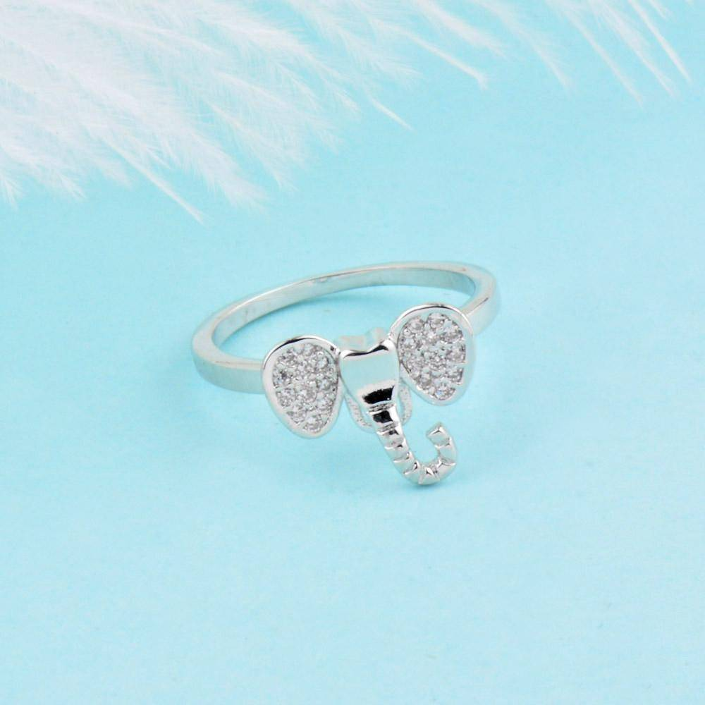 LilliPhant Dainty Elephant Ring (Rose Gold or Platinum Plated) - Available in 4 sizes!