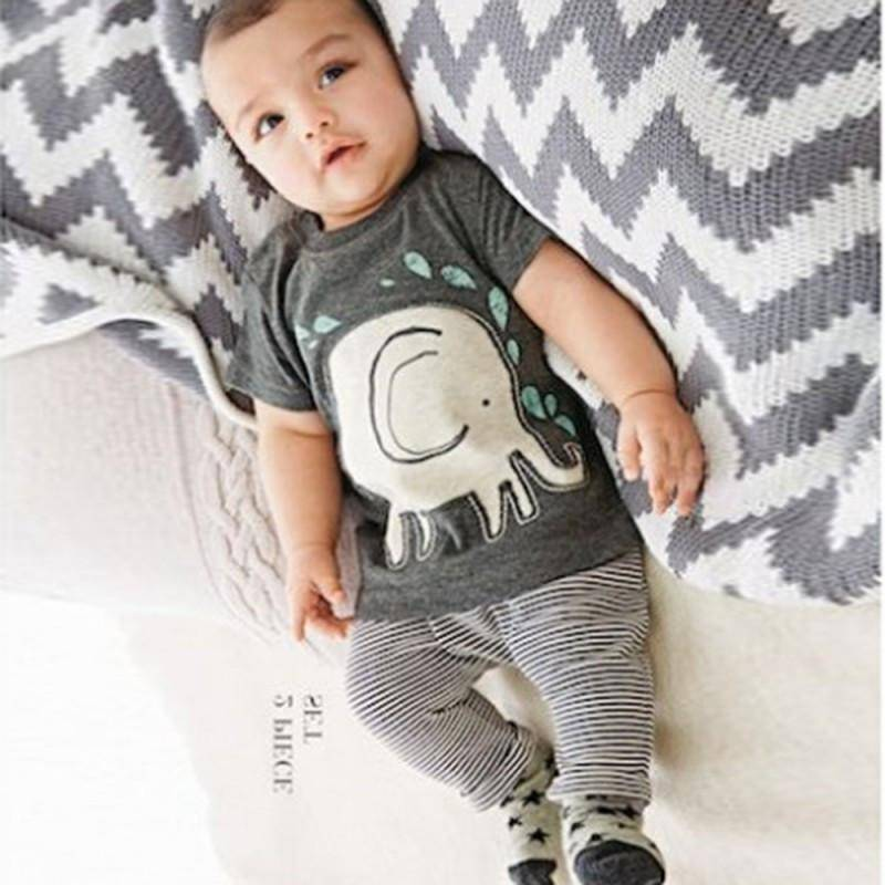 LilliPhant kids Stylish Boy Elephant Outfit - T-shirt and Pants!